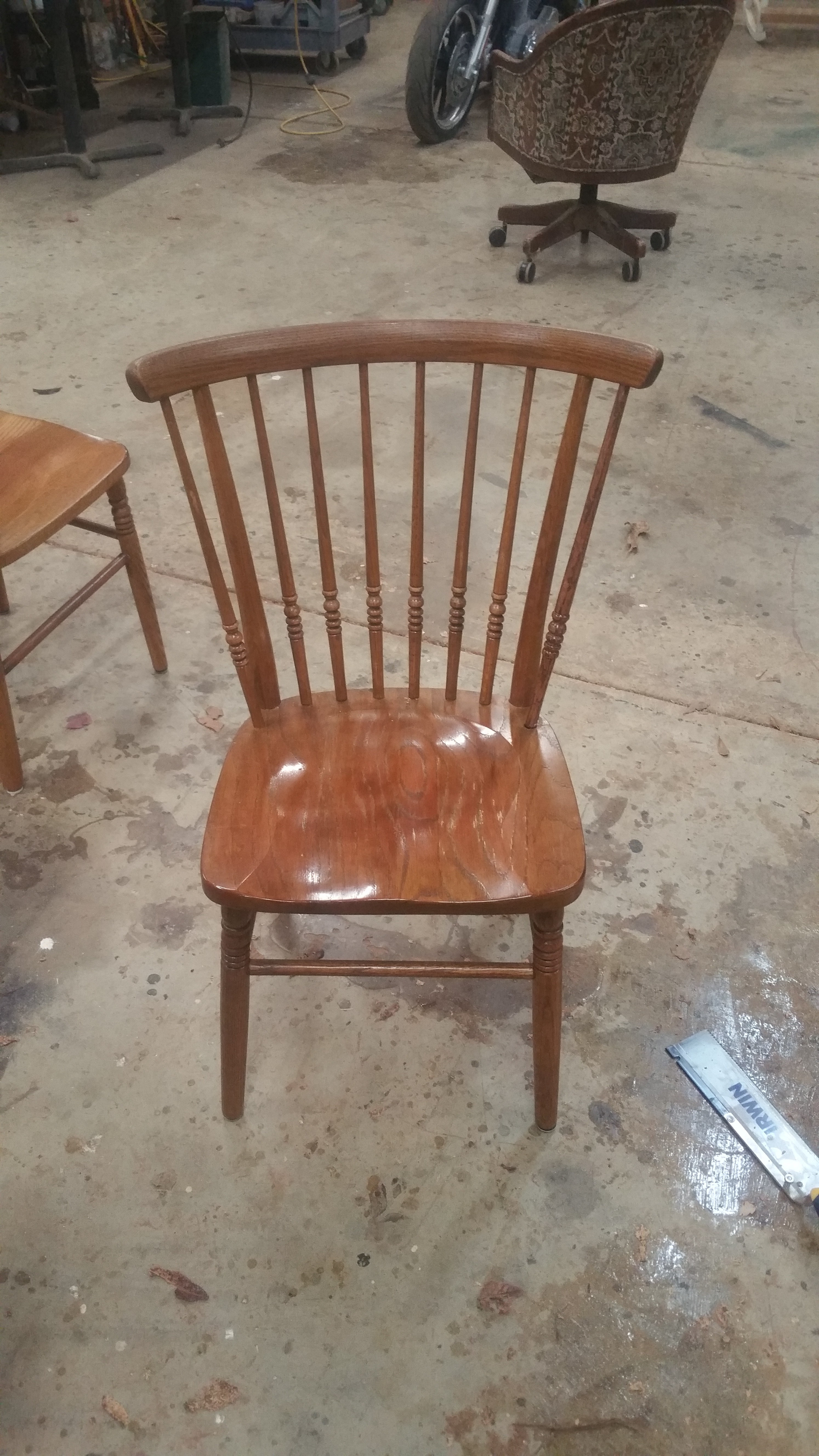 This Was The First Time Iu0027ve Ever Made Replacement Spindles For Chairs And  I Found It To Be Well Worth The Cost To The Customer. She Had Two Chairs  With One ...